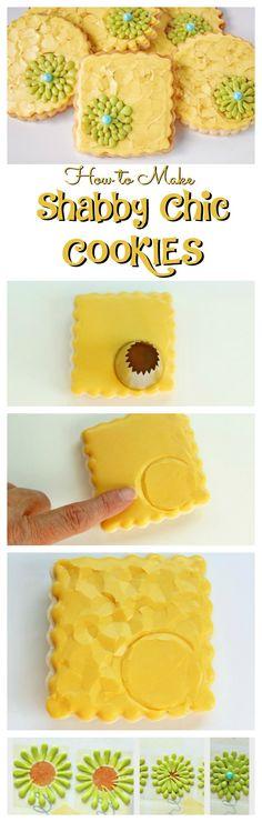 How to Make Shabby Chic Cookies via www.thebearfootbaker.com