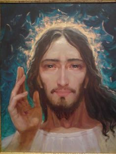 God and Jesus Christ Jesus Face, God Jesus, Jesus Christ, Christian Paintings, Christian Artwork, Jesus Pictures, Pictures To Draw, Religious Icons, Religious Art