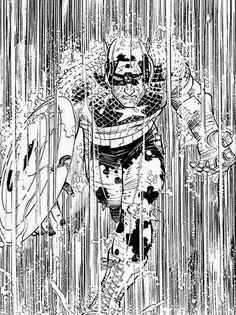 Captain America by John Romita Jr Comic Book Artists, Comic Artist, Comic Books Art, John Romita Jr, Jr Art, Comics Story, Marvel Comic Universe, Universe Art, Marvel Entertainment