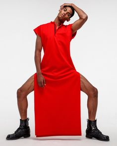 You're a high priest of fashion, and it's time you dressed the part. Our Red Dress is a full-length fashion vestment with short sleeves and side slits up the. I See Red, Eyes Wide Shut, Short Sleeves, Short Sleeve Dresses, High Priest, Complete Outfits, Piece Of Clothing, Cool Outfits, Mens Fashion