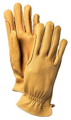 68e4588443aba Hestra Gloves - Men's Deerskin Mens Gloves, Leather Gloves, Five Fingers,  Deer Skin