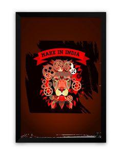 Make in India Matte Framed Poster