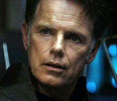"Bruce Greenwood as ""Captain Christopher Pike"", in the movie re-boot, ""Star Trek""."