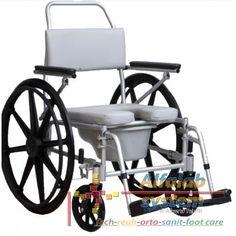 COMODA DA DOCCIA E WC - 279,00 € - Codice  SE7 - Prodotto  Nuovo -  Comoda con struttura in alluminio anodizzato, adatta anche per spostamenti all'interno dell'abitazione. Manovrabile dal paziente e dall'accompagnatore.