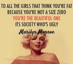 Marilyn Monroe Beauty quote via www.Facebook.com/WildWickedWomen