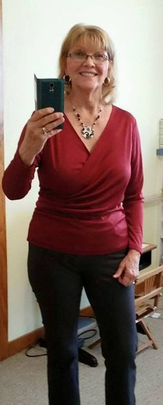 The Easy Wrap Top by Gail, from the free sewing pattern from So Sew Easy