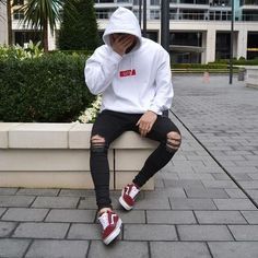 Brand Slim Fit Destroyed Torn Jean Pants For Male Black Ripped Jeans myshopo Superenge Jeans, Black Ripped Jeans, Torn Jeans, Skinny Jeans, Mode Streetwear, Streetwear Fashion, Streetwear Clothing, Mode Dope, Urban Fashion