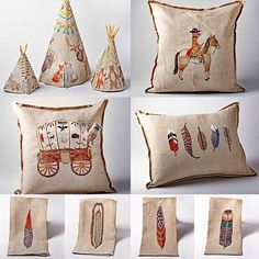 The Museum Store is so enchanted by these beautifully embroidered wares from Coral & Tusk! Based out of Brooklyn, these kitchen and home items tell their own stories in every stitch. Fall in love with these whimsically Western pillows and towels today! #coralandtusk #embroidery #stitching #westernhome #westerndecor #whimsy #woodlandcreatures #feathers #pillows #teatowels