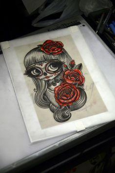 Catrina - tattoo sketch