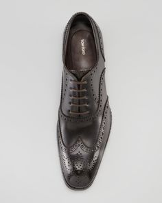 Tom Ford Edward Wing-Tip Oxford, Green.