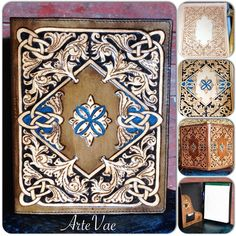 Hand tooled leather legal pad by Tamra at ArteVae