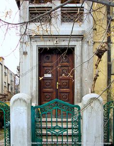 Late Neo-Romanian style doorway assembly, Bucharest