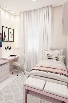 Cool And Calm Teen Room Design Ideas #minimalistic Need some teen bedroom ideas for girls? Check out different cheap and more expensive decorations styles: boho, vintage, modern, cozy, minimalist, etc. #teenbedroom #homedecor #bedroomdesign