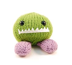 Made one of these in purple and peach - Monster Chunks by Rebecca Danger - SO cute!!