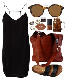 """""""Shades of You: Sunglass Hut Contest Entry"""" by amoiblog ❤ liked on Polyvore featuring Mudd, Giorgio Armani, Birkenstock, NARS Cosmetics, Issue 1.3 and Sara Happ"""
