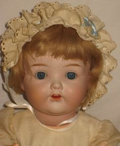 """ANTIQUE 17"""" HORSMAN - NIPPON BISQUE SOCKET HEAD CHARACTER BABY DOLL #2 *RARE*"""