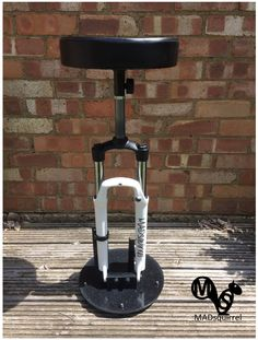 A personal favourite from my Etsy shop https://www.etsy.com/uk/listing/536771520/mountain-bike-suspension-fork-stool-new