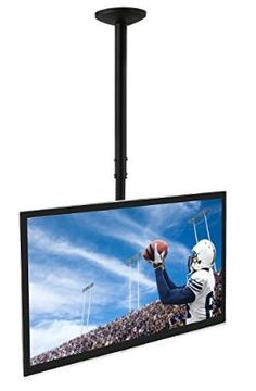 Mount-It! MI-508 Ceiling Mount Bracket for TVs, Height Adjustable TV Mount With Tilt and Swivel Motion, Compatible With LED, LCD, Flat Panel TVs Between 23 Inches to 42 Inches, VESA 200 66 Lb Capacity