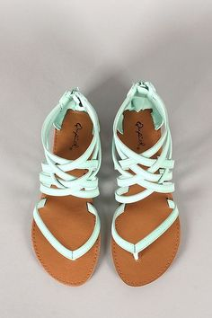 Lovely mint strapy summer sandals