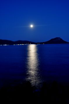 Tristinika beach,Chalkidiki,Greece!   full moon...  photo by Katerina Triantafillidou