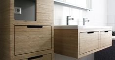 Plexwood Amsterdam bathroom wooden plywood cabinets in light and modern space // Nieuw Amsterdams Ontwerp
