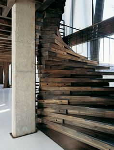 Reclaimed Lumber Staircase!! probly not the most practical thing in the world, but it is my DREAM HOME right??? lol