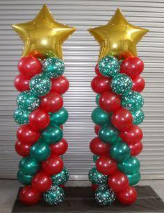 Ballonpilaar Kerst.Zet tijdens de kerst 1 of 2 ballonpilaren naast de deur en uw gasten voelen zich speciaal en welkom tijdens de kerstdagen. Wij bezorgen de ballonpilaren kant en klaar bij u thuis of op locatie. http://www.ballonboog.nl/ballonpilaar