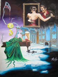 """The Last Dance"" Oil on canvas.    #art #painter #painting #surrealism"