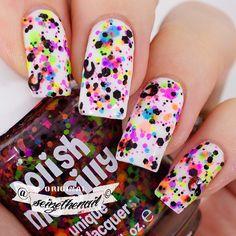 http://decoraciondeunas.com.mx/post/103155269407/can-u-spot-me-is-a-gorgeous-and-fun-glitter | #moda, #fashion, #nails, #like, #uñas, #trend, #style, #nice, #chic, #girls, #nailart, #inspiration, #art, #pretty, #cute, uñas decoradas, estilos de uñas, uñas de gel, uñas postizas, #gelish, #barniz, esmalte para uñas, modelos de uñas, uñas decoradas, decoracion de uñas, uñas pintadas, barniz para uñas, manicure, #glitter, gel nails, fashion nails, beautiful nails, #stylish, nail styles