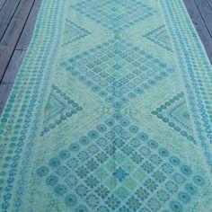 60s Scandinavian large tablecloth in soft by scandinavianseance