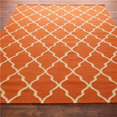 brand new carmen scroll orange 5x8 8x5 handmade woolen area rug