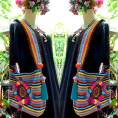 Crochet Delight bag #brightboho #originaldesign #colorfull #crochet #crochetbag #happyvibes #craftoftheday #beautiful #mystyle #hippiechic #crafty #crocheting #creation #crochetlove #bohocrochet #lovemywork #craftyfingers