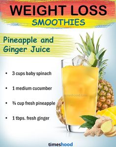 Ginger Pineapple Green Juice for weight loss. Best weight loss shakes. healthy fruit smoothies for weight loss. Check out more weight loss drinks.