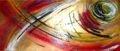 Fish #gold #red #colore #italy #art paint#paint handmade#abstract