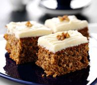 Carrot and Yogurt Cake  Ingredients:  1 cup FAGE Total Greek Yogurt  1/2 cup carrot, grated  3/4 orange juice  1/3 brown sugar  1/3 cup golden raisins  1/3 cup sunflower seeds  1/4 sunflower oil   3 eggs, beaten  ½ tsp vanilla extract  1 1/3 cup whole meal flour  1/2 cup wheat germ  1 1/2 tsp baking soda  2 tsp cinnamon  ¼ tsp nutmeg