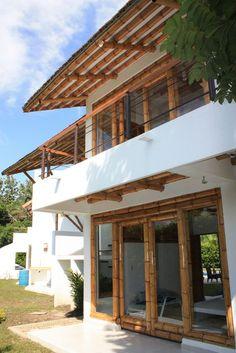 Bamboo House Design, Tropical House Design, Tropical Houses, House Construction Plan, Bamboo Construction, Rest House, My House, Bamboo Roof, Bamboo Building