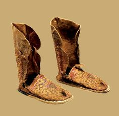 These boots from Morocco are made from the traditional textiles and designs of the Ait Ouaouzguite people (a subgroup of the Amazighs)