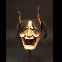 Japon, Masque Hannya, 19ème siècle. Masque Hannya, Oni Mask, Japanese Mask, Japanese Costume, Mascara Oni, Noh Theatre, Art Tribal, Art Premier, Samurai Armor