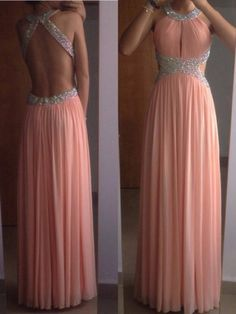 A-Line/Princess Sleeveless Scoop Chiffon Pleats Floor-Length Dresses