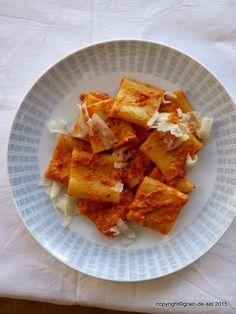 grain de sel - salzkorn: Rausreden gilt nich: Pasta mit Crème aus getrockneten Tomaten