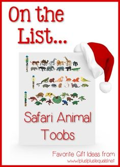 Christmas Gift Ideas ~ Safari Animal Toobs