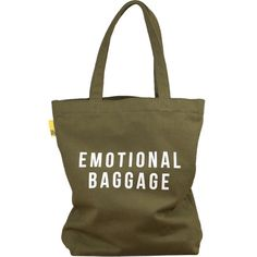Emotional Baggage Canvas Tote Bag from Present Indicative