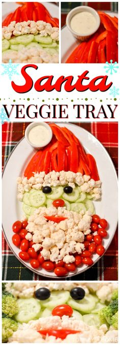 Don't you dare think about ordering those boring pre-made party trays! Instead, make thisSanta Veggie Trayit will sure impress the crowd!
