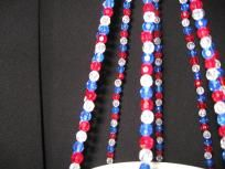 Red White and Blue Beaded Plant Hanger