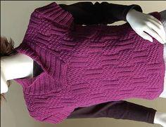 Shawl Collar Short Sleeve Pullover in Merino 5 superwash - free knit sweater pattern - Crystal Palace Yarns