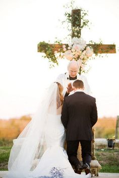 Have a cross instead of an arch for the ceremony.