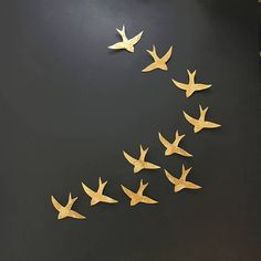 Extra large wall art Swallows over Morocco Gold birds Wall