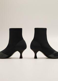3f34833b3a9c29 Mango Heel Sock Boots - 8½ Mango Heels