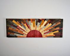 wood wall art Here comes the Sun wooden wall by StainsAndGrains