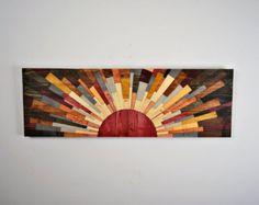 Holz-Kunst URBAN SOMBRERO Holzwand Wandkunst von StainsAndGrains